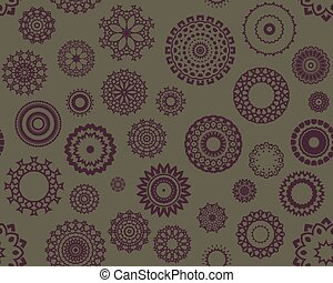 seamless retro shapes - Abstract seamless background...