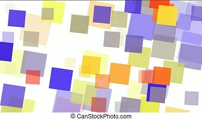 watercolor square papers and mosaic debris background.