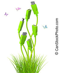 Green technology - Conceptual image - green technology 3d