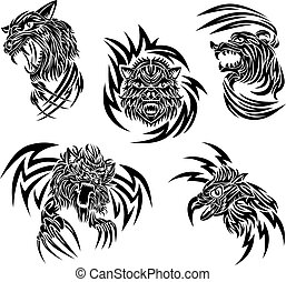 Wild animals tattoo - Some tattoo designs with wild animals...