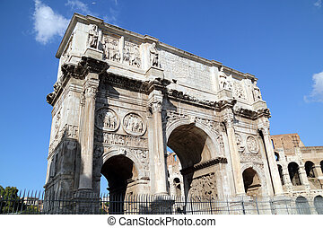 Arch of Constantine, Rome, Italy.