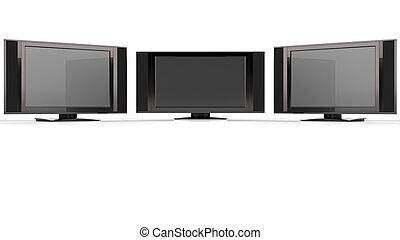 LCD TV against white