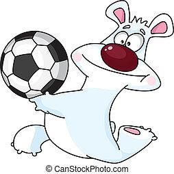 polar bear and ball