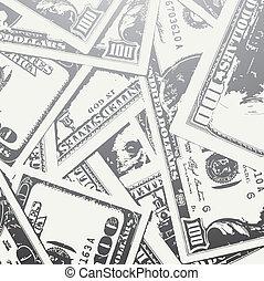 grunge textured money background - grunge textured dollars...