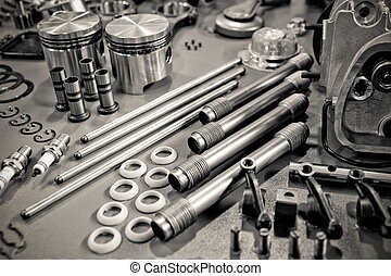 engine parts - collection of precision auto engine parts...