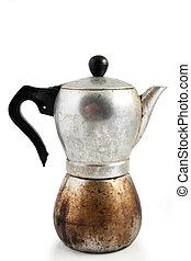 Old percolator - An image of a very old percolator