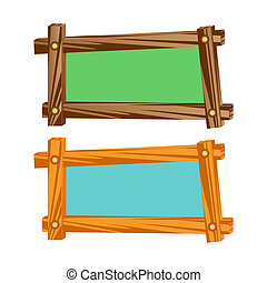 Wooden frameworks - The wooden frames having an empty seat...