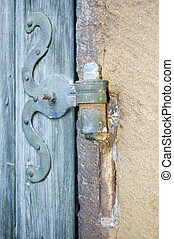 Door hinge - Old wrought iron door hinge