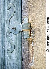 Door hinge - Old wrought iron door hinge