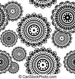 seamless pattern of round ornaments