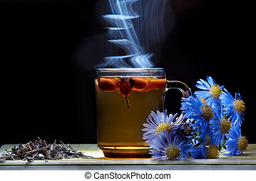 Healthy tea in cup - An image of tea of hips in a...