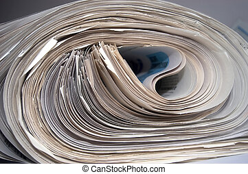 Newsprint - An image of a stock of old newspapers
