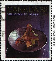 Yellowknife 50th Anniversary of Gold mine, - CANADA - CIRCA...