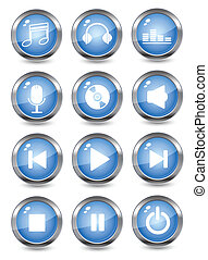 music glossy icons