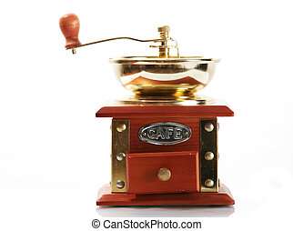 Retro coffee mill - An image of isolated coffee mill