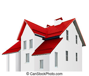 Red roof - An image of house with red roof...