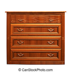 Isolated chest of drawers - An image of a chest of drawers....