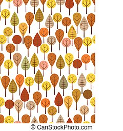 Autumn woods - Brown woods seamless pattern for kids