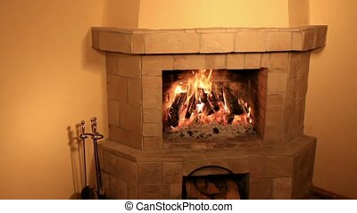 Hot fireplace - Hot home fireplace