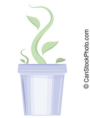 Flower pot with the germ