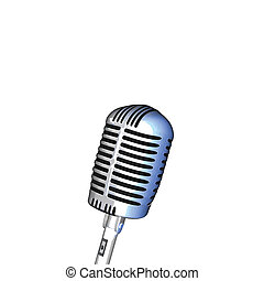Image of a microphone isolated on a white background.