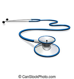 Stethoscope - Image of a stethoscope isolated on a white...