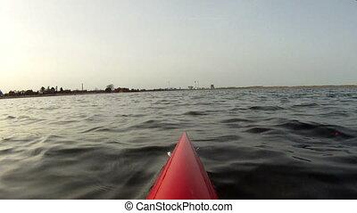 Kayaking in lagoon - Kayaking in Amager Strandpark beach...