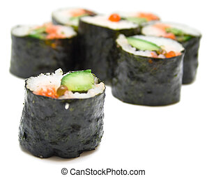 sushi nori on a white - Japanese sushi nori on a white...