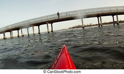 Kayaking in lagoon - Kayaking in Amager Strandpark beach...