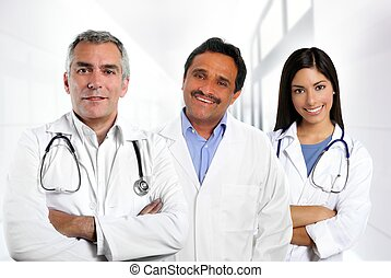 doctors multiracial expertise indian caucasian latin -...