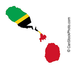 Saint Kitts and Nevis - Illustration of the Saint Kitts and...