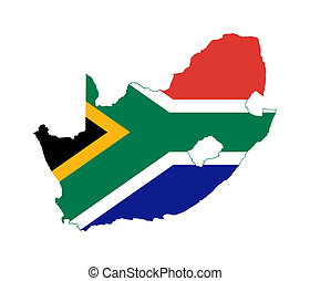 South African map flag