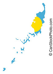 Palau Islands flag on map - Illustration of the Palau...