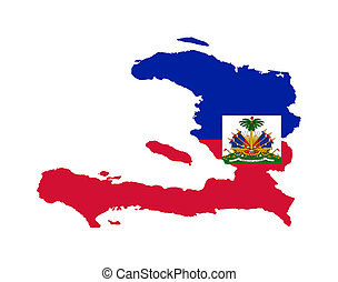 Haiti flag on map - Illustration of the Haiti flag on map of...