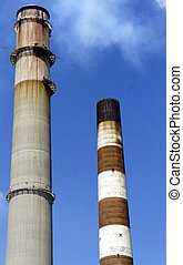 Smoke Stacks - Picture of smoke stacks at a power plant