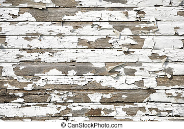 old paint on wood background - Cracked and peeling paint on...