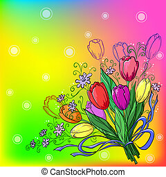 Flower, tulips, background