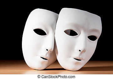 Máscaras, teatro, conceito
