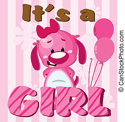 Its a girl - Greeting card Its a girl card