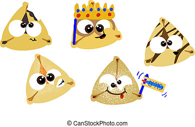 Purim Hamentashen - Various cartoon purim hamentashen...