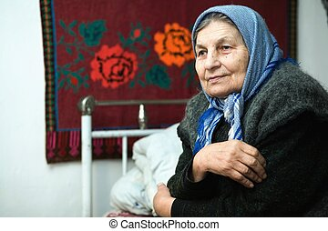 Old age - An image of a portrait of an old woman