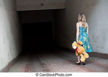 Woman with teddy-bear
