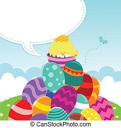 Happy Easter Message - Baby Chick\'s  Easter Message