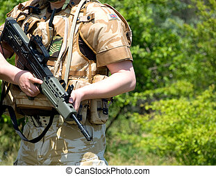 British soldier - British Royal Commando in camouflage...