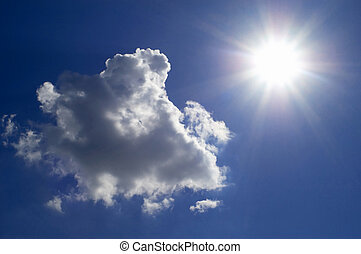 Cloud and sun i - An image with cloud and sun on the