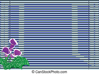 Blinds - A bouquet of flowers standing on the window sill...