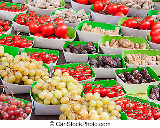 Display of fruits in a french market