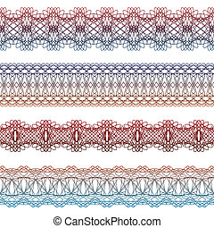 set of borders seamless elements for certificates, awards,...