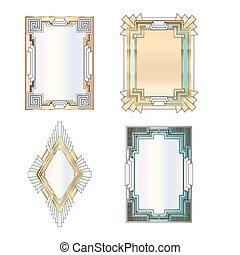 Art Deco Borders - Art deco style border vectors