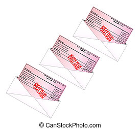 Credit Card Bill - Credit card bill with payment due stamp